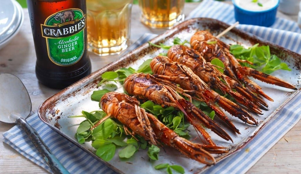 Crabbie's BBQ Prawn Skewers and Garlic Mayo